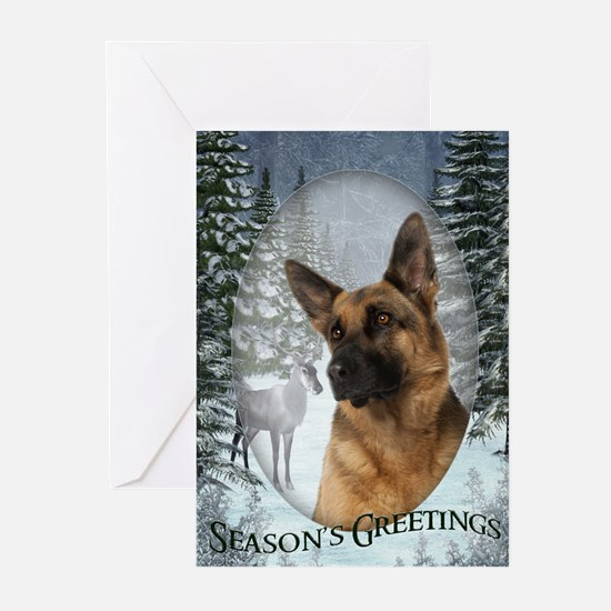 German Shepherd Christmas Cards (Pk of 20)