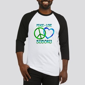 Peace Love Sudoku Baseball Jersey