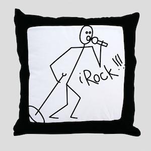 iRock Stick Man singing Mic Microphone Throw Pillo