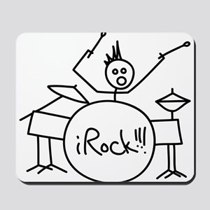 iRock Stick Man Playing Drums with Spiked Hair Mou