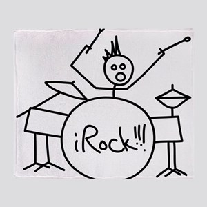iRock Stick Man Playing Drums with Spiked Hair St