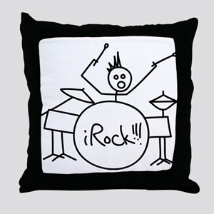 iRock Stick Man Playing Drums with Spiked Hair Thr