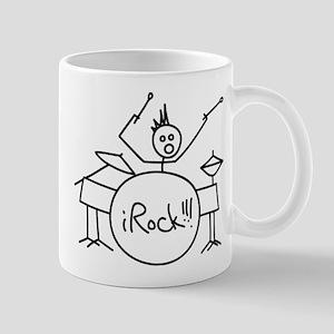 iRock Stick Man Playing Drums with Spiked Hair Mug