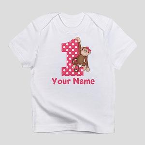 First Birthday Girl Monkey Infant T-Shirt