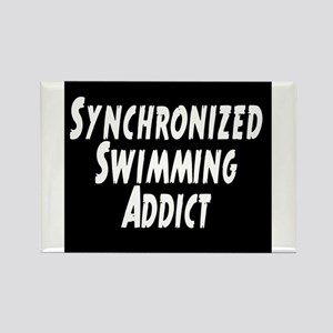 Synchronized Swimming Addict Rectangle Magnet