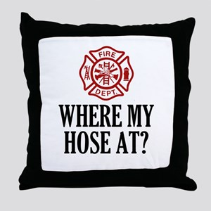 Where My Hose At? Throw Pillow