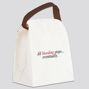 All Bleeding Stops Canvas Lunch Bag