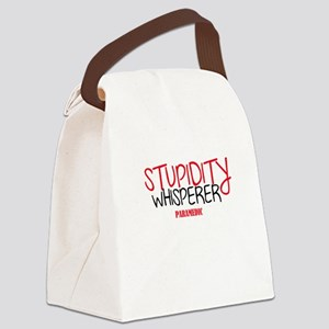 Stupidity Whisperer Paramedic Canvas Lunch Bag