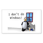 idontdowindows10x10 Sticker (Rectangle 10 pk)