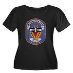 USS RICH Women's Plus Size Scoop Neck Dark T-Shirt
