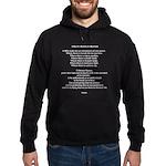 The Saint Francis Prayer Hoodie (dark)