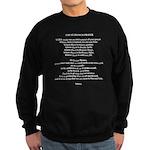 The Saint Francis Prayer Sweatshirt (dark)