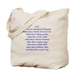St Francis Prayer Tote Bag