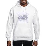 St Francis Prayer Hooded Sweatshirt