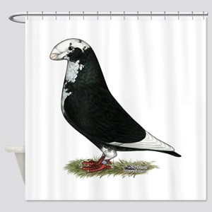 Pied Show Racer Shower Curtain