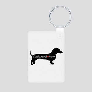 Dachshund Mom Aluminum Photo Keychain