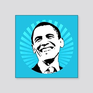"Obama Smile Square Sticker 3"" x 3"""