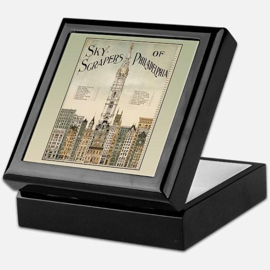 Skyscrapers Of Philadelphia Keepsake Box