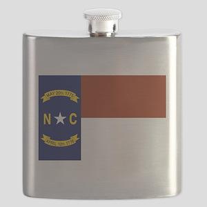 North Carolina State Flag Flask