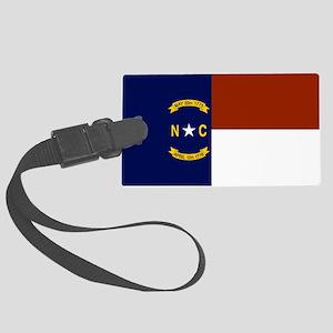 North Carolina State Flag Large Luggage Tag
