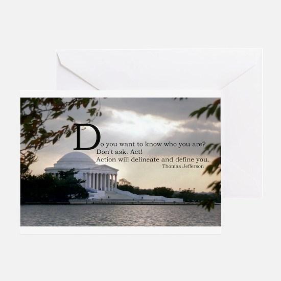 Thomas Jefferson wisdom Greeting Card