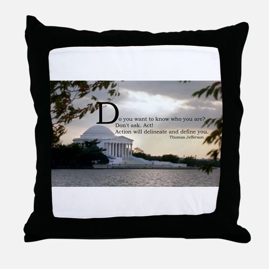 Thomas Jefferson wisdom Throw Pillow
