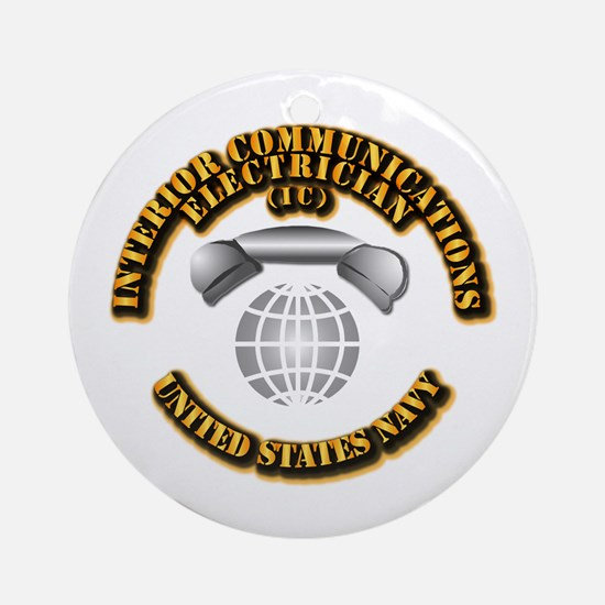 Navy - Rate - IC Ornament (Round)