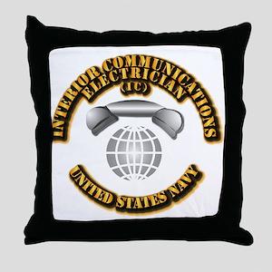 Navy - Rate - IC Throw Pillow