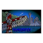 Vancouver Souvenir Stick Sticker (Rectangle 10 pk)