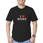 I Love Books Men's Fitted T-Shirt (dark)