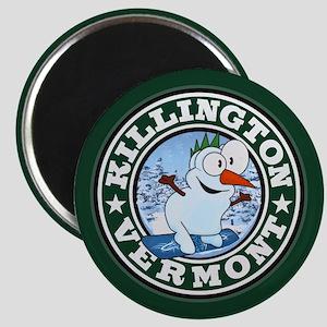 Killington Snowman Circle Magnet