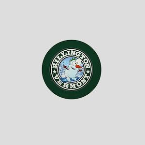 Killington Snowman Circle Mini Button