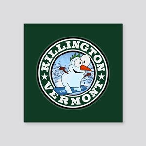 "Killington Snowman Circle Square Sticker 3"" x 3"""