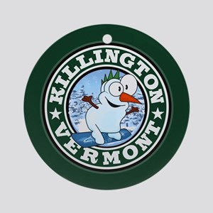 Killington Snowman Circle Ornament (Round)