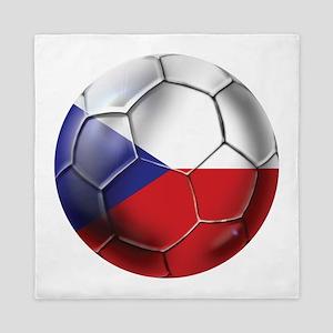 Czech Republic Soccer Ball Queen Duvet