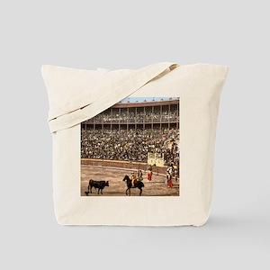 Vintage Spain Bull Fight Tote Bag