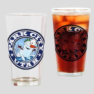 Park City Snowman Circle Drinking Glass