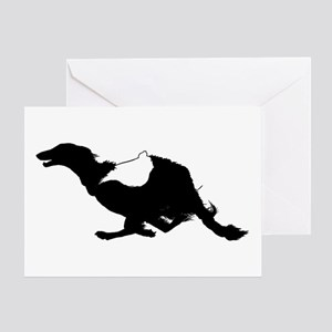 Running Silken Windhound Greeting Card