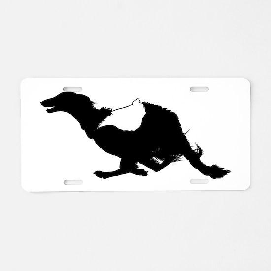 Running Silken Windhound Aluminum License Plate