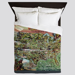 Rambles through our country Queen Duvet