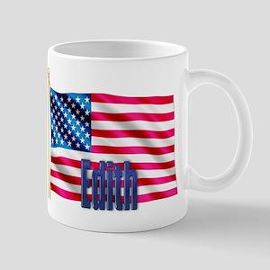 Edith Personalized USA Flag Mug