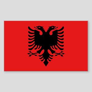 Flag of Albania Sticker (Rectangle 10 pk)