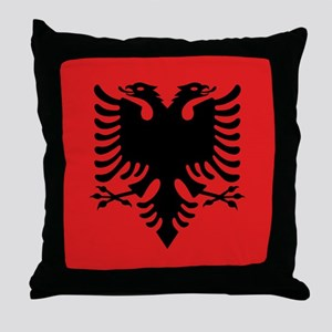 Flag of Albania Throw Pillow