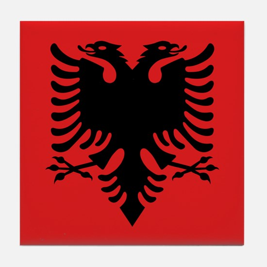 Flag of Albania Tile Coaster