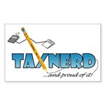 taxNerdFinal333 Sticker (Rectangle 10 pk)