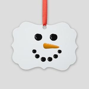 Snowman Face Picture Ornament
