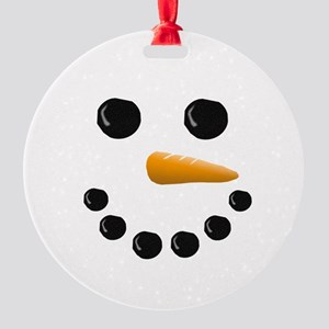 Snowman Face Round Ornament