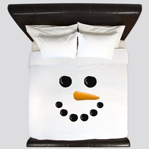 Snowman Face King Duvet