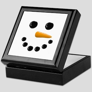 Snowman Face Keepsake Box