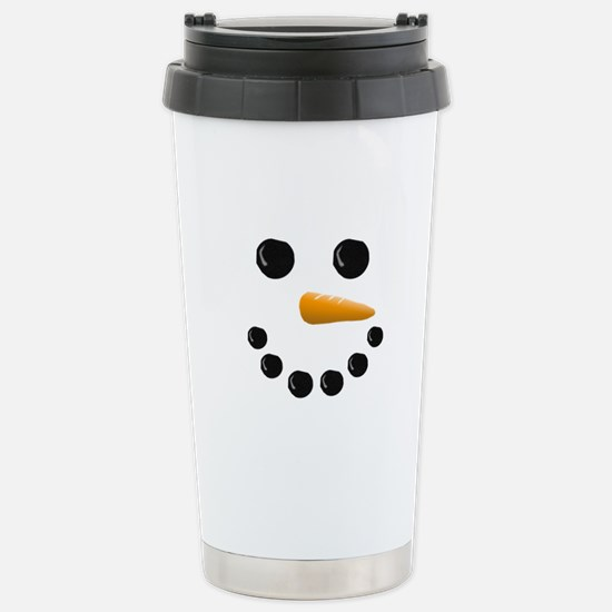 Snowman Face Stainless Steel Travel Mug